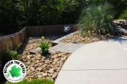 view-from-top-of-stairs-Between-the-Edges-landscaping-NorthAugustaSC