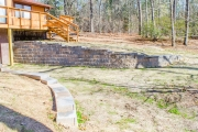 retaining wall with steps augusta ga