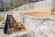 retaining wall with steps north augusta sc