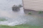 Backyard-flooding-erosion-control-before-Between-the-Edges-landscaper