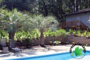 Poolside retaining wall martinez ga