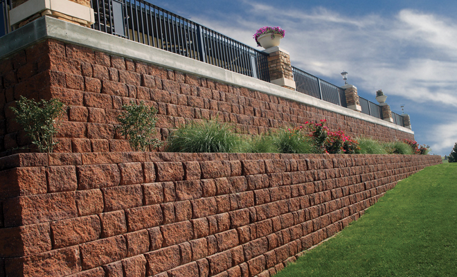 Retaining walls landscaping lawn care and retaining for Landscaping rocks augusta ga