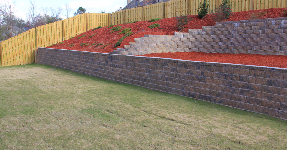Landscaping Lawn Care And Retaining Walls Between The