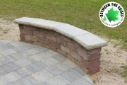 close-up-curved-seating-wall-hardscape-design-Between-the-Edges-Evans-GA