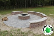 fire-pit-circular-paver-patio-raised-seating-Between-the-Edges-landscape-design-North-Augusta-SC