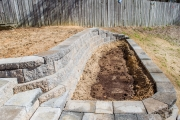 retaining wall with steps evans ga