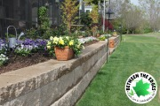 retaining-wall-to-define-landscaping-bed-Between-the-Edges-hardscaping-Aiken-SC