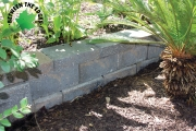 Poolside retaining wall aiken sc