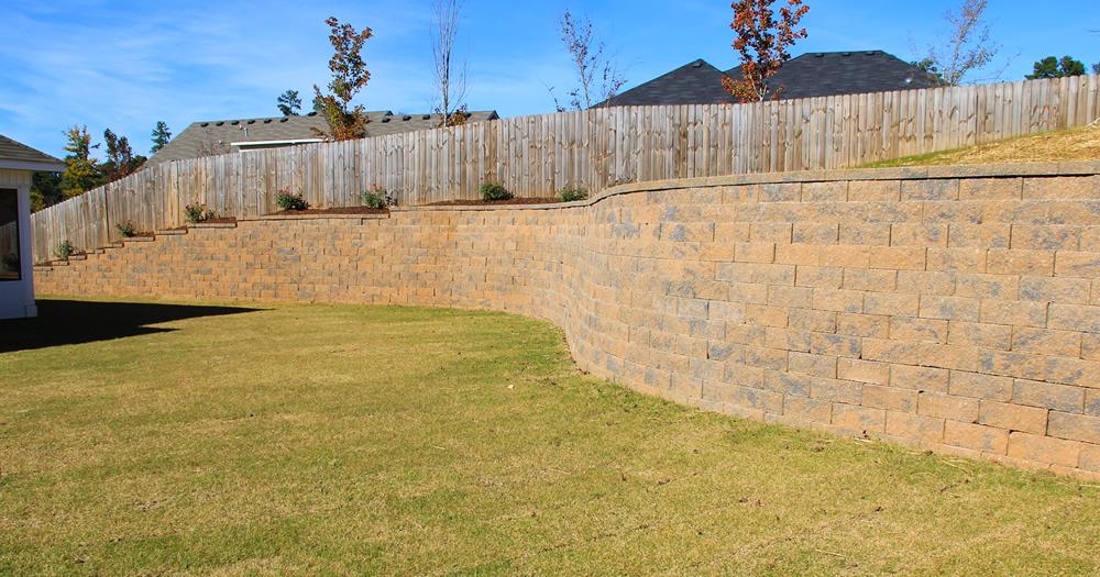 retaining wall installation north augusta